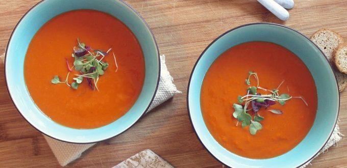 gezond en lekker diner aan huis - paprika soep recept